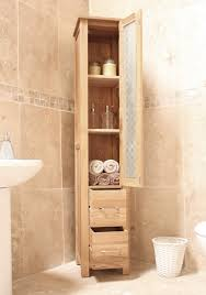 Glass Bathroom Storage Exquisite Oak Bathroom Storage Cabinets From Maple Wood Furniture