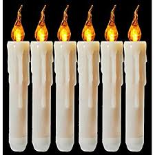 box of 12 battery operated led tapered candles w