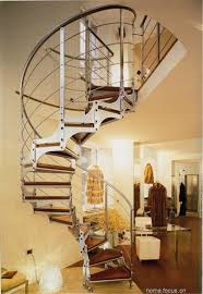 Indoor Balcony Interior Luxury Staircase Design With Iron Steel With Wall