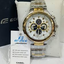 Jam Tangan Casio Gold jual jam tangan casio edifice type ef 554 silver gold plat putih