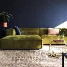 velvet sectional sofa
