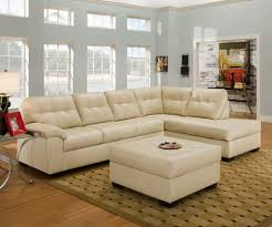 beige leather sectional sofa poundex ancel beige leather sectional sofa and ottoman italian