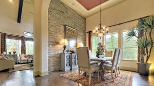 Pretty Stone Accent Wall In This Dining Room By Darling Homes At - Dining room accent wall
