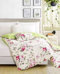 beauteous full size bed sheet with nice lime green to fucshia