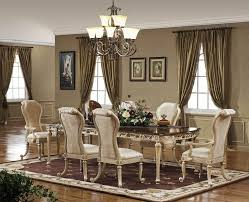 Solid Wood Formal Dining Room Sets Furniture Dark Brown Finish Solid Wood Long Table Formal Dining