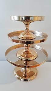 gold cake stands gold mirror stand large