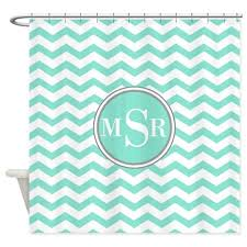 Monogram Shower Curtains Mint And Grey Shower Curtain Home Decor Ryanmathates Us