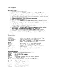 Currently Working Resume Sample by Sap Resume Examples Resume For Your Job Application