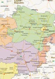 Map Austria Digital Politcal Map Of Austria 1456 The World Of Maps Com