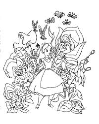 alice in wonderland color pages qlyview com