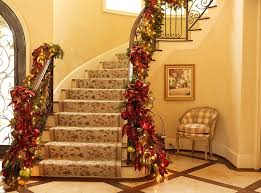 Modern Design Staircase 23 Gorgeous Christmas Staircase Decorating Ideas