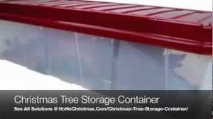 plastic artificial tree storage container box and bin
