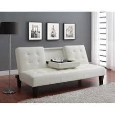 White Faux Leather Futon 6 Pcs Black Leather Sofa Set With Sofa Loveseat Chair And 3