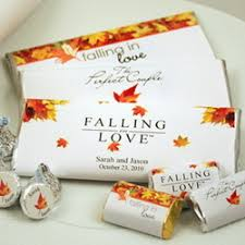 fall wedding favor ideas fall wedding favor chocolate candy bar findgift