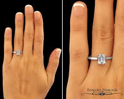 emerald cut solitaire engagement rings 1 0 carat emerald cut solitaire sr1031 bespoke diamonds