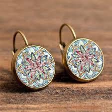 peacock feather earrings s aliexpress buy 2017 trendy design butterfly lotus flower