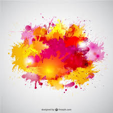 paint splashes in yellow and pink colors vector free download