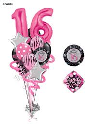 balloon deliver sweet sixteen birthday balloon bouquet 16 balloons balloon