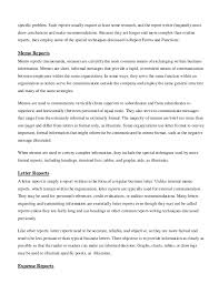 business memo format sample written communication report