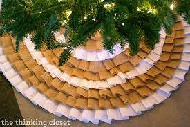 Poinsettia Christmas Tree Skirt D I Y No Sew Burlap Ruffle Christmas Tree Skirt U2014 The Thinking Closet