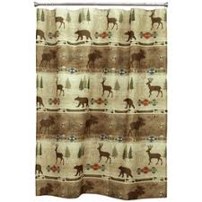 rustic shower curtains moose pinecone designs