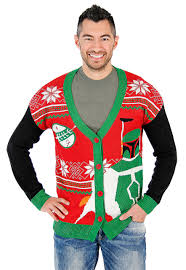sweater wars boba fett wars cardigan