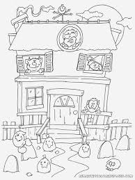 halloween haunted house coloring pages getcoloringpages com