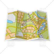 map vector abstract folded paper city map royalty free vector clip image
