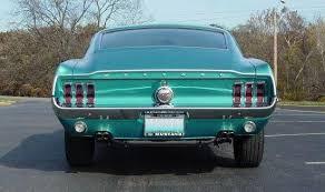 1968 mustang rear end gulfstream aqua blue 1968 ford mustang fastback mustangattitude
