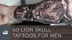 60 lion skull tattoos for men youtube