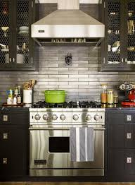 kitchens with stainless steel backsplash black cabinets with stainless steel backsplash contemporary