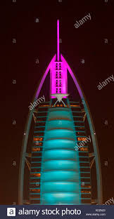 burj al arab hotel lit stock photos u0026 burj al arab hotel lit stock