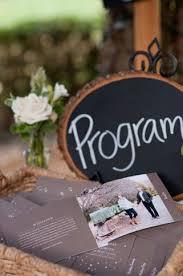 Chalkboard Wedding Program Chalkboard Wedding Placement Ideas Our Huge Guide
