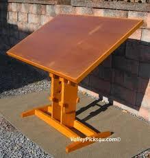 Antique Oak Drafting Table Vintage Solid Oak Industrial Art Drafting Table U0026 Stool By Picks4u