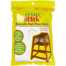 disposable chair covers snap snak disposable high chair covers 6ct walmart