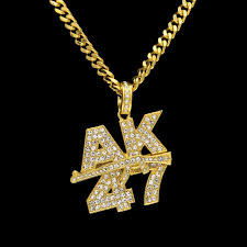 crystal pendant necklace aliexpress images New cool hip hop ak 47 assault rifle bling bling 39 s rhinestone jpg