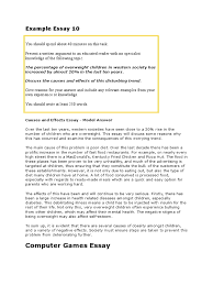 Cause Effect Essay Format An Example Of Essay Resume Cv Cover Letter