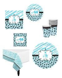 Safari Boy Baby Shower Ideas - wild safari blue baby shower kit baby shower decoration