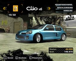renault clio v6 nfs carbon need for speed most wanted список автомобилей