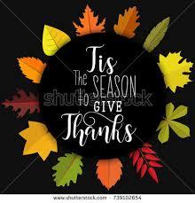 tis season give thanks card poster stock vector 739102654