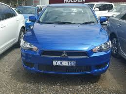 blue mitsubishi lancer 2010 mitsubishi lancer sx cj my11 lightning blue for sale in