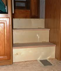rv storage stairs built for a specific storage need
