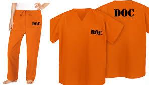 prisoner costume prison costume orange doc suit prisoner