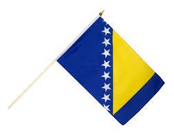 Flag Of Bosnia Bosnia Herzegovina Hand Waving Flag 12 X 18 Inch Best Buy