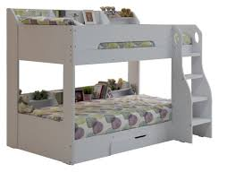 Flair Flick Wooden Bunk Bed White - White bunk beds uk