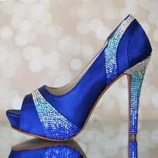 wedding shoes royal blue wedding shoes royal blue platform peep toes with blue