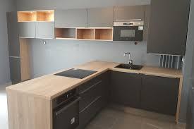 cuisines bois réalisations cuisine anthracite et bois chez damien c de cuisines
