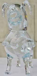 art glass fallos ring holder images Holmegaard handblown clear glass dog decanter or gin pig for sale JPG