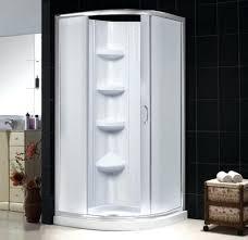 shower shower kit in white half circle shower enclosure kohler