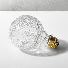 cut glass halogen 40w light bulb cb2